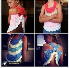 This is a pattern for a child crochet top. Your little one will look adorable in this whimsical swing top, perfect for those hot summer months!