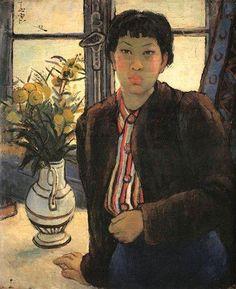 Pan Yuliang (潘玉良) [Chinese painter, born Zhang Yuliang (張玉良), 1895–1977] - Self portrait (自画像)
