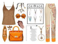 Ele by ragelove on Polyvore featuring polyvore moda style Topshop Etro Aquazzura Diane Von Furstenberg fashion clothing