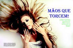 Oficina de Fotografia Tema: Brasil 2014- Mãos que torcem Editorial para uma revista. Curso Design Moda Uniasselvi Indaial - SC Foto: Aline Olech