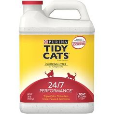 Purina Tidy Cats Clumping Cat Litter 247 Performance for Multiple Cats 20 lb Jug *** Check out the image by visiting the link.(This is an Amazon affiliate link and I receive a commission for the sales)
