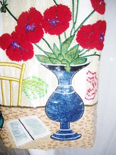 Very Rare Bill Blass Matisse inspired sequin dress 1980s