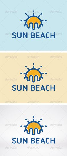 Sun Beach Logo Template — Vector EPS #water #voyage • Available here → https://graphicriver.net/item/sun-beach-logo-template/5964381?ref=pxcr
