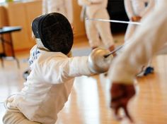 Fencing classes.