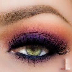 Smoldering purple smokey eye. Shop our eye shadows here > https://www.priceline.com.au/cosmetics/eyes/eyeshadow
