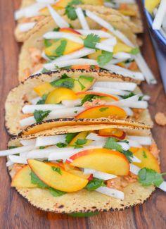 Summer Fruit Recipe Roundup | Jicama Peach Salsa w. Fish Tacos | Luci's Morsels :: LA Food Blogger