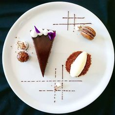 cake plating – Famous Last Words Fancy Desserts, Delicious Desserts, Chocolate Desserts, Chocolate Cake, Chocolate Roulade, Chocolate Smoothies, Chocolate Shakeology, Chocolate Crinkles, Chocolate Drizzle