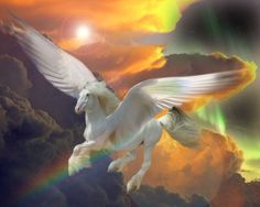pegasus and rainbow