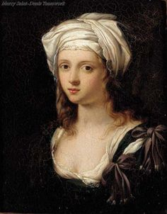 """Not the usual mistaken identity: Not Marie-Louise-Elisabeth Vigée-Lebrun.""""According to Christie's who auctioned it is, French School, Century Portrait of a young lady, bust-length, wearing a turban oil on copper Female Portrait, Portrait Art, Female Art, Woman Painting, Painting & Drawing, Lady Elizabeth, Female Painters, Elisabeth, Classical Art"""