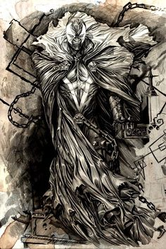 Spawn by ChaseConley on DeviantArt Comic Book Artists, Comic Book Characters, Comic Book Heroes, Marvel Characters, Comic Character, Comic Books Art, Comic Art, Naruto Characters, Spawn Comics