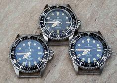 The OVMv1 OVMv2 and the OVM MAXI.  #SwordHands #OVM #dailywatch #watchfanatic #watchlover #watchporn #watchuseek #wis #wornandwound #wruw #watch #milsub #gnomonwatches by captain_of_the_watch
