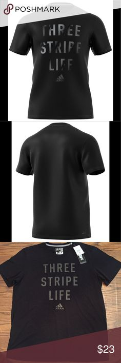 Men's Adidas Graphic T-Shirt •Graphic at front •Short sleeves  •Crew Neckline  •60% Polyester 40% Cotton  •Machine washable  •Color:Black with graphic print at front    🌻NO TRADES 🌻OFFERS WELCOMED! 🌻BUNDLE TO SAVE  🌻FEEL FREE TO ASK ANY QUESTIONS adidas Shirts Tees - Short Sleeve