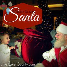 Where to See Santa in Lake county and where to get FREE photos   #santa #LilLakeCo #LakeCountyIL #Christmas #VisitLakeCounty