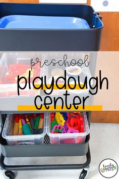 The Playdough Center in a preschool classroom is a place for children to build fine motor muscles, release stress and be creative. See what is inside my Playdough Center. Preschool Centers, Preschool Classroom, Play Based Learning, Learning Centers, Classroom Organization, Organization Ideas, Center Labels, Lakeshore Learning, Release Stress