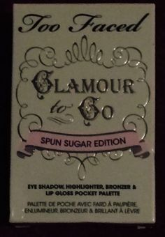 Too Faced Glamour To Go Spun Sugar Edition Pocket Palette NIB! #TooFaced