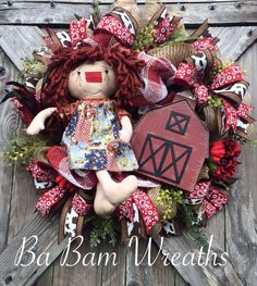 Country Raggedy by Ba Bam Wreaths