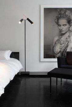 MID-CENTURY MODERN BLACK FLOOR LAMPS | See more at http://www.delightfull.eu/en/inspirations/interiors-decor/mid-century-modern-black-floor-lamps/