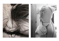 The evolution of an inspiration. biomematics back detial felt fabric manipulation  Chana Weinberg