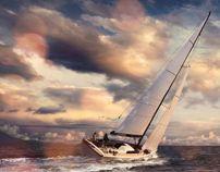 The Sailboat by João Marcos Britto, via Behance