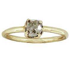 yellow gold x diamond Rough Diamond, Prong Set, Yellow Gold Rings, Heart Ring, Naked, Freedom, Diamonds, Inspire, Change