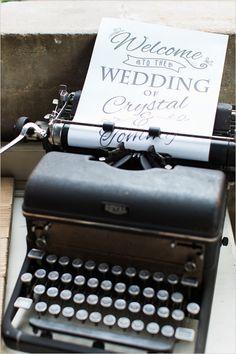 Vintage Wedding Ideas - type writer wedding sign
