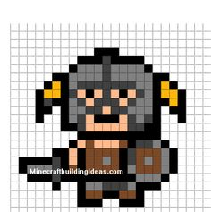 Minecraft Pixel Art Templates: Skyrim Dragon Born