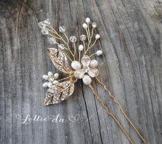 Boho Headpiece Set Boho Wedding Gold Flower by LottieDaDesigns