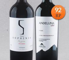 Tudo o que a Malbec pode oferecer: Sophenia Reserve e Andeluna 1300 #vinho #vinhotinto #malbec #mendoza #robertparker