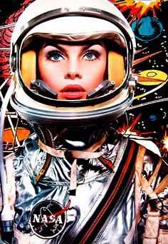 Models in space.
