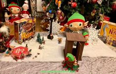 The Elves set up their very own Lion Witch and the Wardrobe scene with a wardrobe, fur coats, a lamp post,turkish delight and all the favourite Narnia figures. The Elf, Elf On The Shelf, Woodland Elf, Turkish Delight, Father Christmas, Fur Coats, Magical Creatures, Family Traditions, Narnia