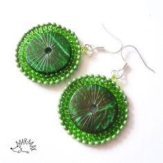 Plátky bambusu Náušnice - earrings
