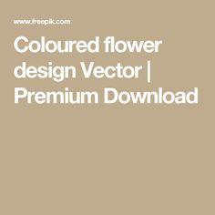 Coloured flower design  Vector | Premium Download