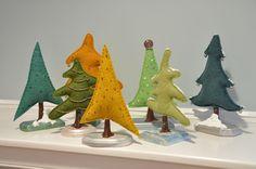 Making Wool Felt Christmas Trees!