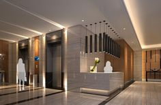 hotel design | Hotel lobby lighting marble ceramic 3D design | Download 3D House