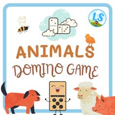 This is a domino game to print and play! It is great to teach and learn about animals in a fun way.You will receive 5 pages (50 dominoes).The words included are:catdogbirdfishrabbitturtlesheeppigcowelephantgiraffezebrachickenhorsechickroostergoosebeebutterflylionmonkeylady bugmousesharkostrichkangar... English Activities For Kids, English Worksheets For Kids, Easel Activities, English Language Learning, Teacher Favorite Things, Learning Resources, Higher Education, Classroom, Author
