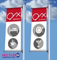 Création de drapeaux sur lampadaires.
