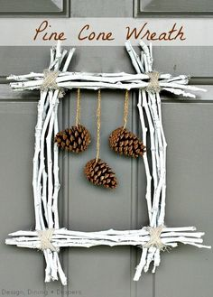 Pine Cone Wreath {30 Kids Fall Crafts (pine cones, fall leaves, acorns and more)}