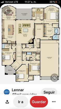 Everything's Included by Lennar, the leading homebuilder of new homes for sale in the nation's most desirable real estate markets. New House Plans, Dream House Plans, House Floor Plans, Spa Inspired Bathroom, Eagle Homes, Storey Homes, New Home Communities, House Blueprints, Home Upgrades