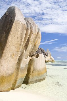 At Anse Source d'Argent, La Digue, Seychelles