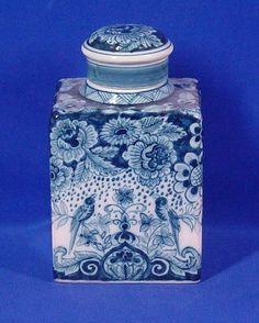 Royal Makkum Tea Caddy Blue