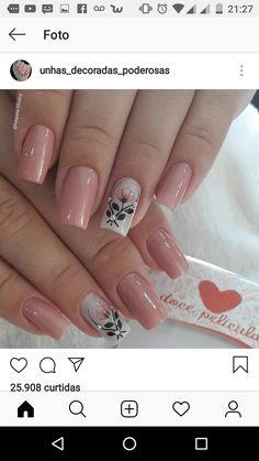 Pink Nail Art, Flower Nail Art, Sassy Nails, Trendy Nails, The Art Of Nails, Sugar Nails, Bright Nails, Powder Nails, Cute Nail Designs