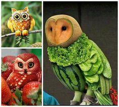 Awesome Food Art: Owl Theme Food Art