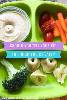 Healthy eating isn't just about which foods we give our kids to eat. The eating behaviors they develop are just as important.So even though it seems counterintuitive, it's better to stop yourself from telling your kids to finish their meal. Healthy Meals For Kids, Kids Meals, Family Meals, Healthy Eating, Toddler Nutrition, Nutrition Tips, Toddler Meals, Toddler Food, Registered Dietitian Nutritionist