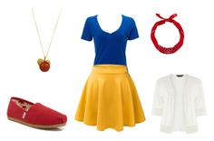 Snow White by theeiffelflower on Polyvore featuring Dorothy Perkins, TOMS and New Look