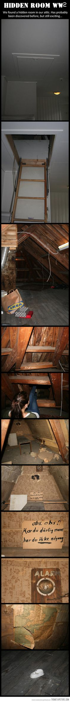 A hidden room from not weird or creepy, very interesting Hidden Rooms, Creepy Stories, Secret Rooms, Interesting History, Interesting Stuff, Awesome Stuff, Abandoned Places, Fun Facts, Funny Pictures