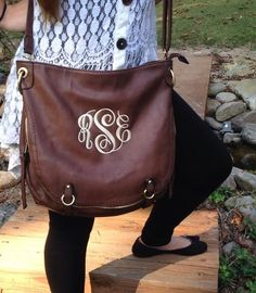 Accessorize your look with a monogrammed purse / hobo bag from I Flew The Nest. Shop our selection of stylish monogrammed products today.