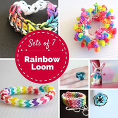 Sets of 7: Rainbow Loom - a collection of 7 of my favourite #crafts #kids #rainbowloom
