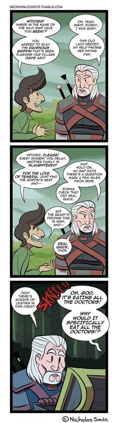 Fandumb #81: A Witcher's Priorities by Neodusk.deviantart.com on @DeviantArt