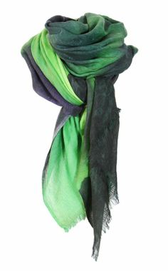 """Scarf/shawl """"Aurora Borealis"""" by Kristine Vikse. The Northern light in wool and silk. Beautiful!"""