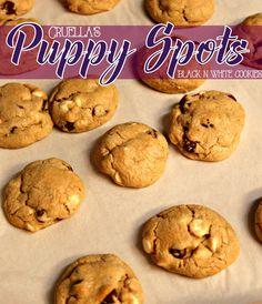 Disney's Descendants Watch Party Menu + Cruella's Puppy Spots Black & White Chocolate Chip Cookies $Disney #VillainDescendants #CollectiveBias #ad